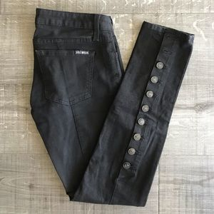 Hudson Black Skinny Jeans With Button Back Detail